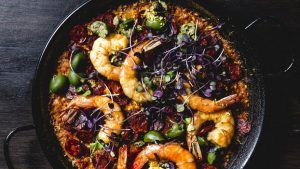 saffron - Chorizo And Shrimp Paella