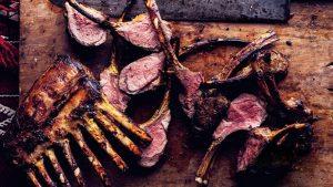 - Grilled Saffron Rack Of Lamb