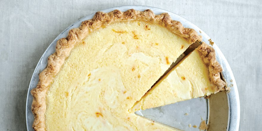 - Lemon Buttermilk Pie With Saffron
