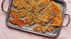 saffron - Saffron, Rose Water Brittle With Pistachios And Almonds