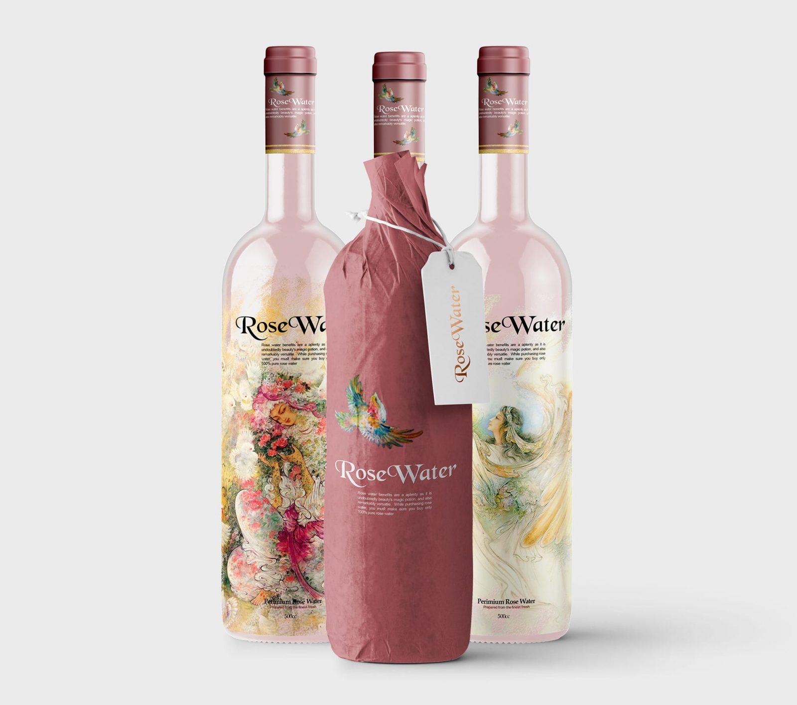 Rose water label Of Iran designed by Taha Fakouri rosewater - Iran Meets 90% of Global Rosewater Demand
